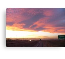 Great clouds over Denver around sunset Canvas Print