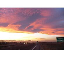 Great clouds over Denver around sunset Photographic Print