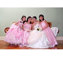 bride's maid, wedding and flower girl gown design 5 Photographic Print