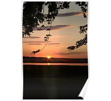 the rays of setting sun Poster