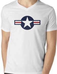 USA Air Force Logo Mens V-Neck T-Shirt