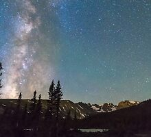 Middle of the Night Milky Way Rocky Mountains by Bo Insogna