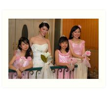 bride's maid, wedding and flower girl gown design 6 Art Print