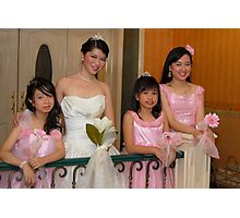 bride's maid, wedding and flower girl gown design 6 Photographic Print