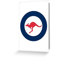Australian Roundel Greeting Card