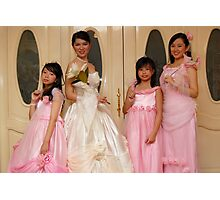 bride's maid, wedding and flower girl gown design 7 Photographic Print