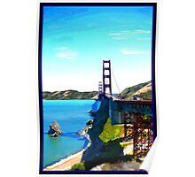 SF Golden Gate Bridge Poster