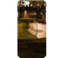 Oasis of Calm Water in the Middle of the Hustle and Bustle of the Piazza iPhone Case/Skin