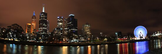 Yarra River Night Lights by Andrew McNeil