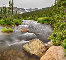 Colorado Indian Peaks Wilderness Creek Panorama by Bo Insogna