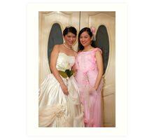 bride's maid and bride gown design 10 Art Print