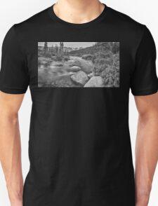 Colorado Indian Peaks Wilderness Panorama BW Unisex T-Shirt