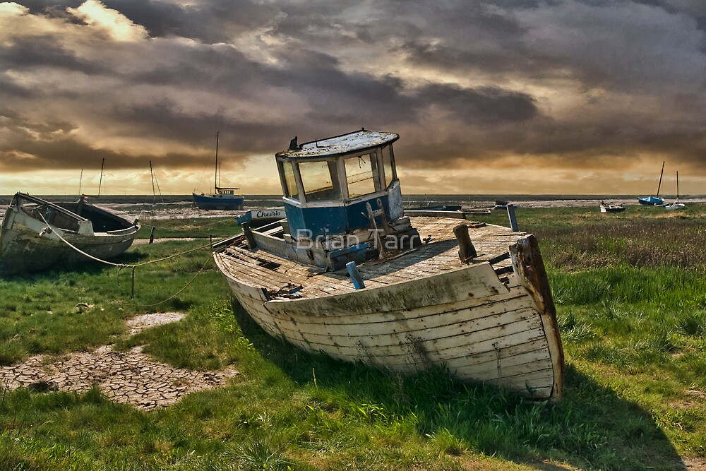 Abandoned Boat at Heswall by Tarrby