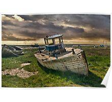 Abandoned Boat at Heswall Poster