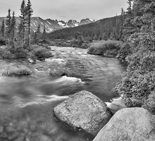 Colorado Indian Peaks Wilderness Panorama BW by Bo Insogna