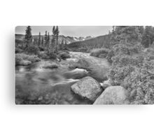 Colorado Indian Peaks Wilderness Panorama BW Metal Print