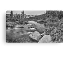 Colorado Indian Peaks Wilderness Panorama BW Canvas Print