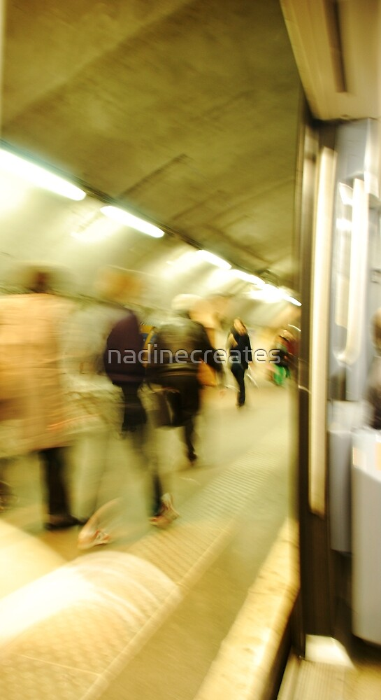 Life of the Paris Metro by nadinecreates