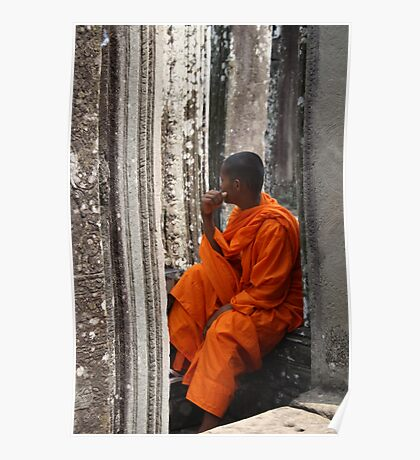 Cambodian contemplation Poster