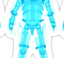 X-ray Cybermen Sticker