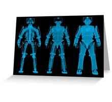 X-ray Cybermen Greeting Card