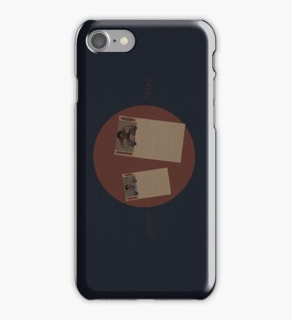 Troy and Abed in SPACE SHIPS iPhone Case/Skin