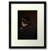 man in muslim costume Framed Print