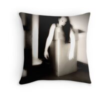 she was after all, just made of plastic. Throw Pillow
