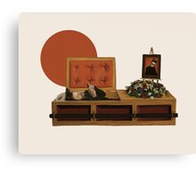 Cool cat funeral Canvas Print