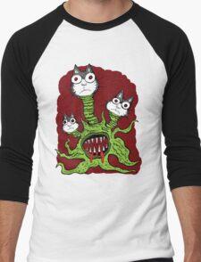 Kitty Monster Men's Baseball ¾ T-Shirt