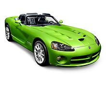 Green 2008 Dodge Viper SRT10 Roadster by ArtNudePhotos