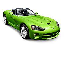Green 2008 Dodge Viper SRT10 Roadster Photographic Print