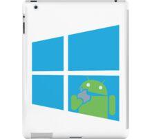 Android eats an Apple through a Window iPad Case/Skin