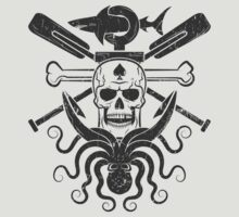 Pirate logo skull octopus by Agor2012