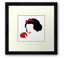 Snow white and  the poisoned apple Framed Print