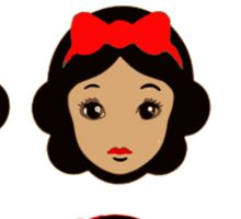 Snow White and eight sisters Sticker