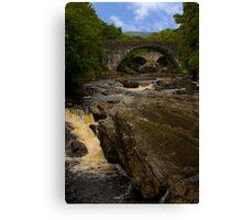 Invermoriston Falls and the Two Bridges Canvas Print