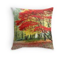 Red Tree, Queenswood Throw Pillow