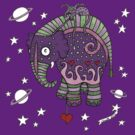 Interstellar Elephant Tee by Anita Inverarity