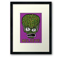 Believe Alien Framed Print