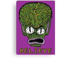 Believe Alien Canvas Print