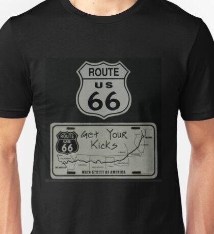 (✿◠‿◠) (◡‿◡✿ Route 66 T-Shirt (✿◠‿◠) (◡‿◡✿ Unisex T-Shirt