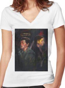Shook me Women's Fitted V-Neck T-Shirt