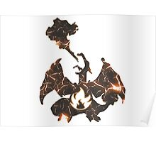 Pokemon Charizard fire fracture Poster