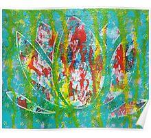 Lotus Emerging: Inner Power Painting Poster