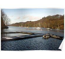 Boats on Rudyard Lake Poster
