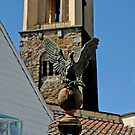 Stone Eagle & Campanile, Portmeirion by buttonpresser