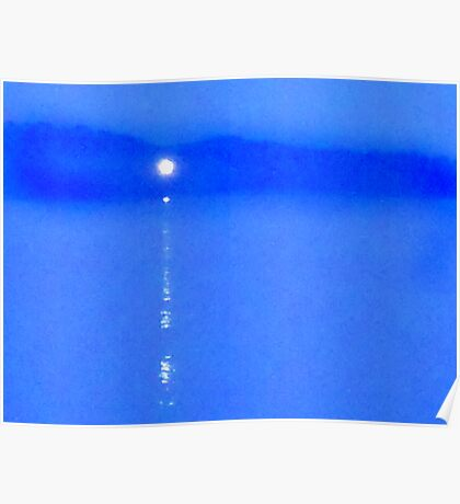 Blue - The Light Over the Water Poster