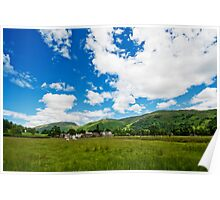 Grasmere Village over the field Poster