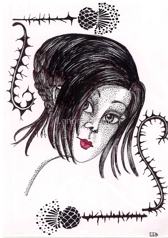 Paper Doll Goth by Lenora Brown